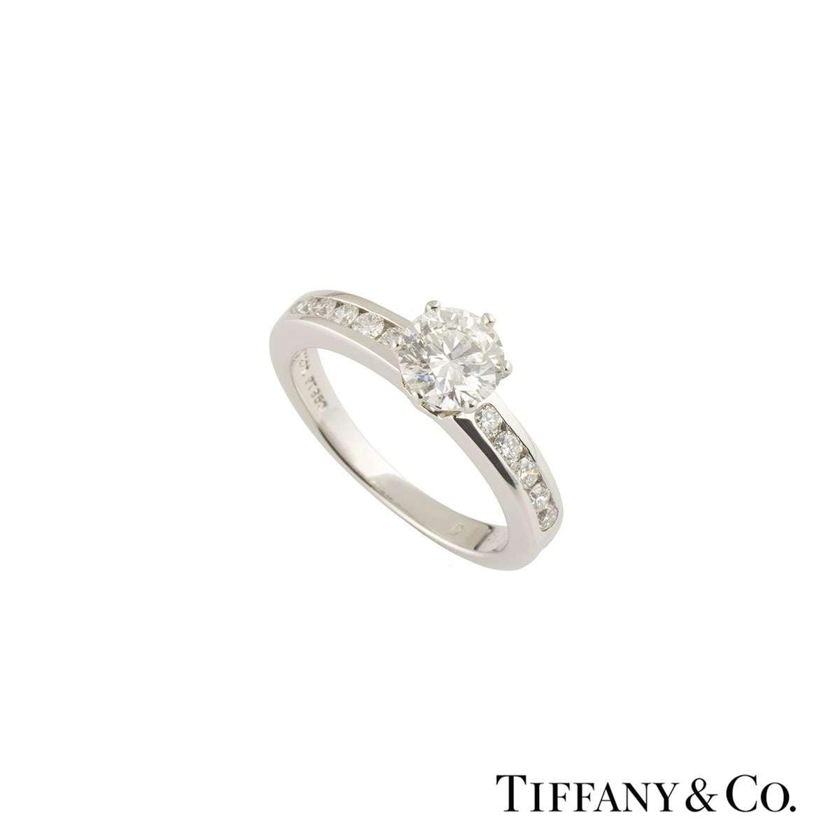 Tiffany & Co. The Tiffany Setting with Diamond Band Ring 0.76ct G/VS1